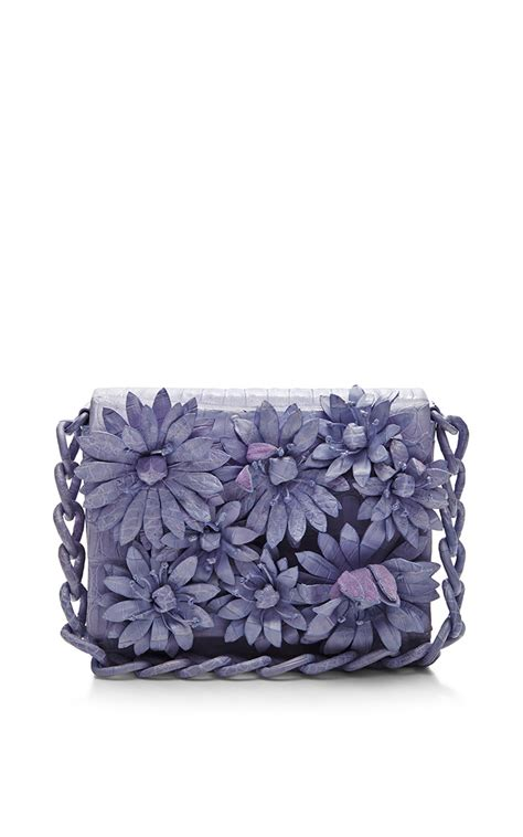 lyst nancy gonzalez lavender crocodile skin shoulder bag