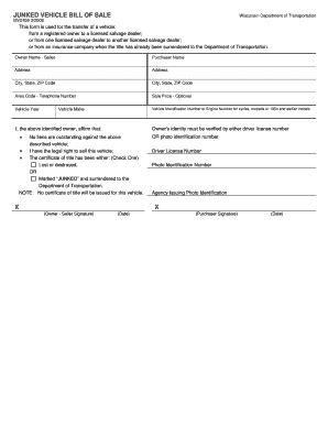 boat bill of sale wisconsin bill of sale form wisconsin vehicle bill of sale templates