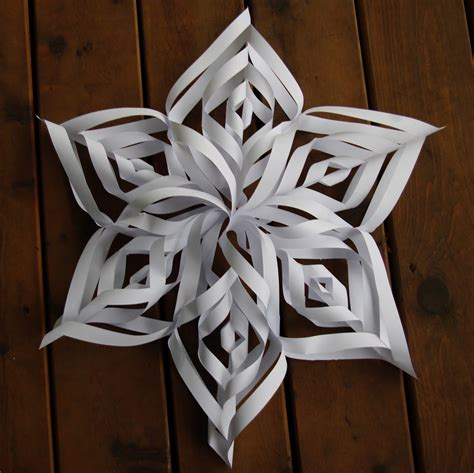 Paper Snowflakes Easy - passengers on a spaceship hanging paper snowflake