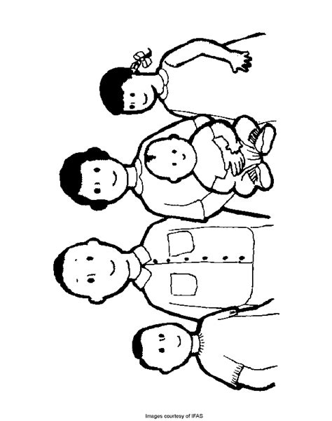 coloring page of family family coloring pages coloring home