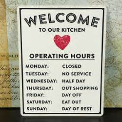 kitchen metal sign for home vintage style metal wall sign plaque shabby chic kitchen