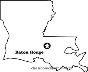 Louisiana Boot Outline by Louisiana State Capital Map