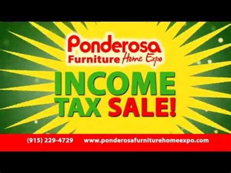 zero on our income tax sale furniture ponderosa