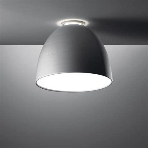 artemide nur mini soffitto fluo a244310 aluminium grey
