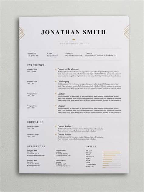 Resume Layout Ideas by Best 25 Resume Layout Ideas On Resume Ideas