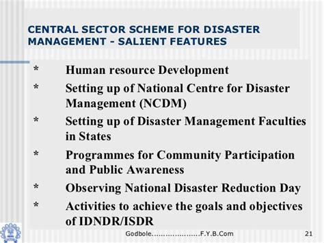 Mba In Disaster Management Syllabus by Disaster Management In India