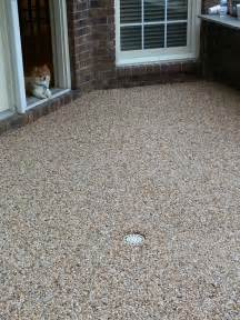 Pea Gravel Epoxy Patio » Simple Home Design