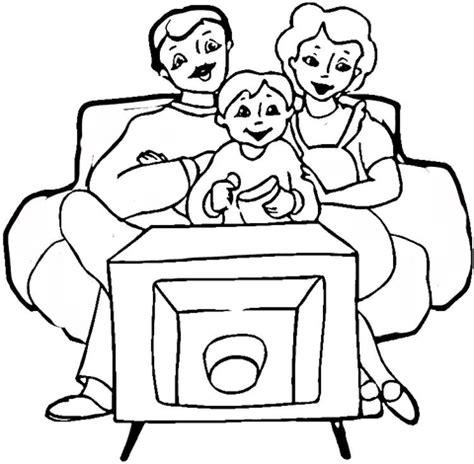 imagenes de la familia urbana para colorear ausmalbild familie vor dem fernseher ausmalbilder