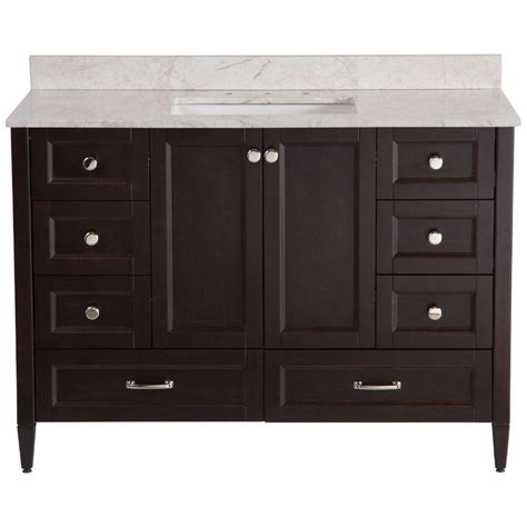 48 Bathroom Vanities With Tops Home Decorators Collection Claxby 48 In Vanity In Chocolate With Effect Vanity Top In