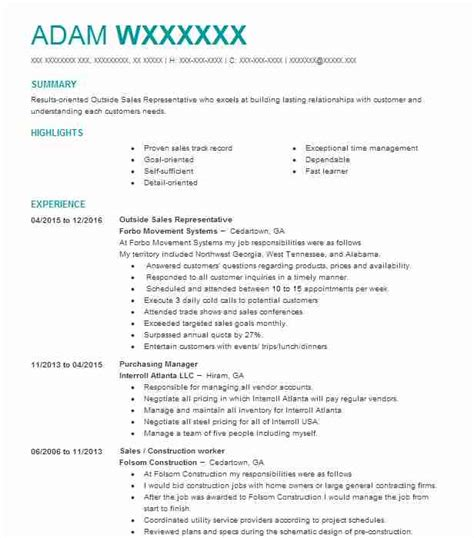 Air Conditioning Sales Cover Letter by Marketing Representative Resume Exle State Auto Auction Atlanta