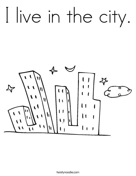 coloring book live i live in the city coloring page twisty noodle