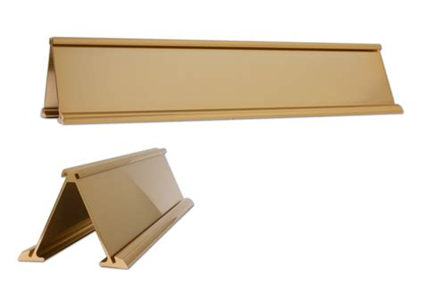 desk name plate holder double sided rose gold holder