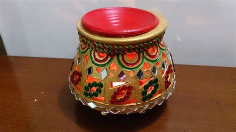 Handmade Decorative Pots - garba 2 matka earthen pot navratri decoration diwali
