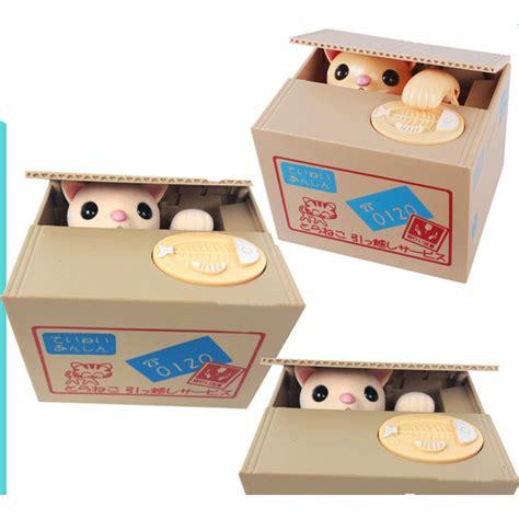 Mainan Laser Kucing Cat Pet Toys money cat piggy bank celengan kucing brown jakartanotebook