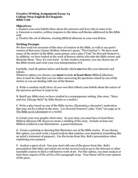 College Essay Assignment by Best Photos Of Creative Writing Format Creative Writing Essay Exle Creative