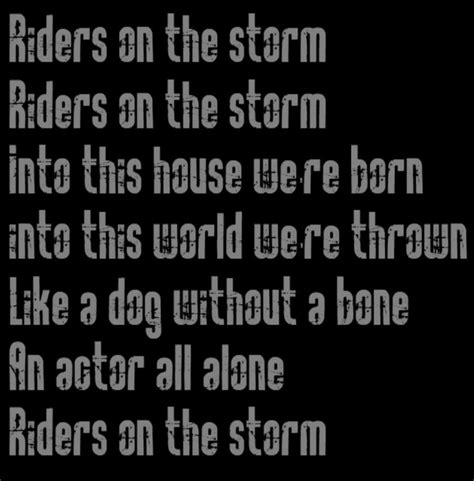 Riders On The The Doors by Riders On The By The Doors Songfacts
