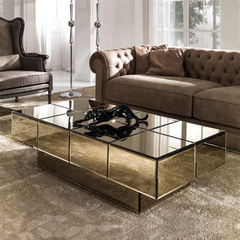 italian designer bronze glass storage coffee table