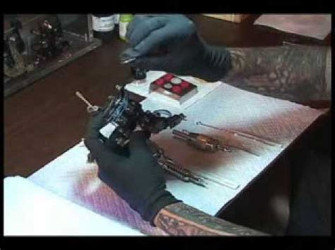 tattoo machine setup setting up a lining tattoo machine liner machine youtube