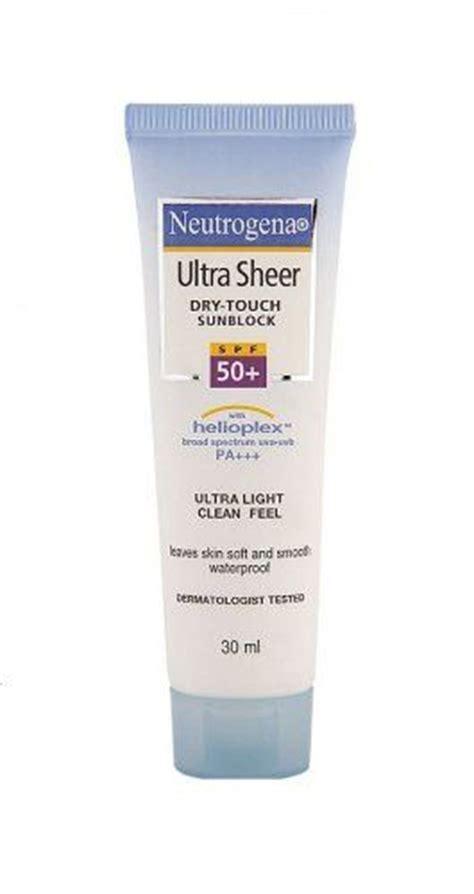 Neutrogena Ultra Sheer Touch Sunblock Spf 50 1 neutrogena ultra sheer touch sunblock 30ml buy