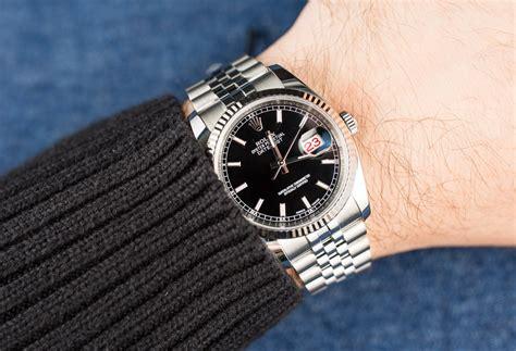 Rolex Black Datejust 116234 Jubilee Black On Wrist