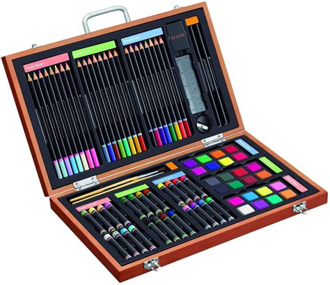 and crafts sets 82 deluxe set in wooden a mighty