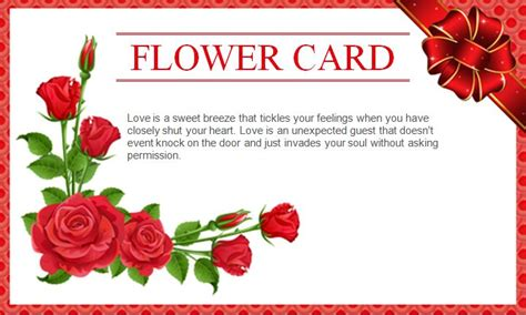 Flower Card Templates by Best Wishes Card Craftbnb