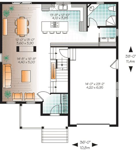 Small Open Concept House Plans by Open Concept Floor Plan 21984dr 2nd Floor Master Suite