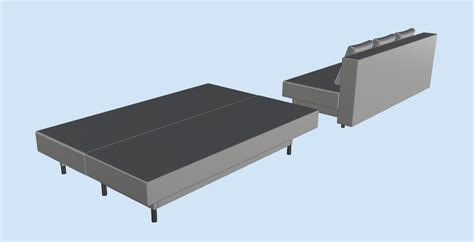 sofa asarum ikea asarum ikea sofabed 3d cad model library grabcad