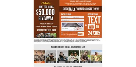 Hgtv 50000 Sweepstakes Code Word - cabela s hunt for bucks 50 000 giveaway