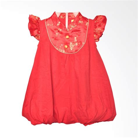 Dress Merah Imlek jual eyka balloon sincia merah dress bayi harga