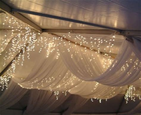 ceiling drapes with fairy lights 17 best images about wedding lighting on pinterest