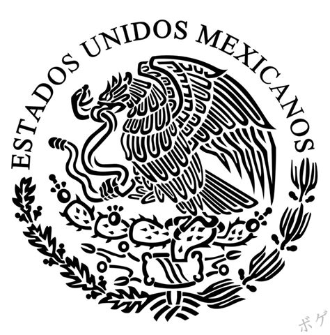 escudo bandera de mexico para colorear nocturnar dibujos del escudo mexicano imagui