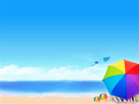 Beach Powerpoint Background Powerpoint Backgrounds For Summer Powerpoint Templates