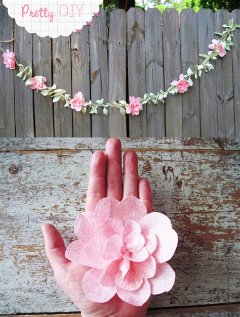 paper flower garland tutorial pretty diy fabric flower garland free pretty things