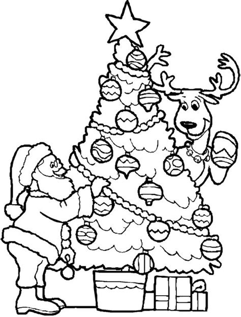 santa christmas tree coloring page 40 best images about tree on pinterest trees a tree and