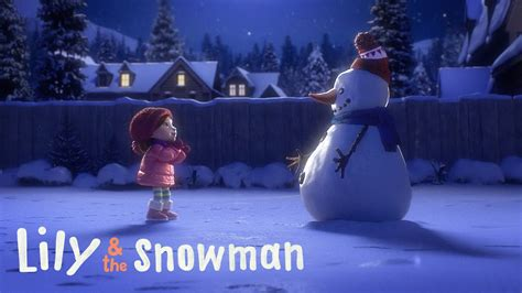 commercial woman hits snowman cineplex lily the snowman daily commercials