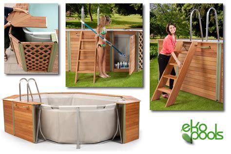 piscine rivestite in legno piscina fuori terra ottagonale technypools evolution 800