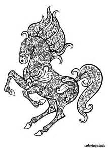 coloriage mandala difficile cheval