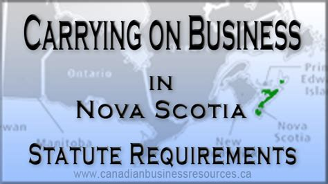 Mba Schools In Canada Requirements by Carry On Business In Scotia Statute Requirements