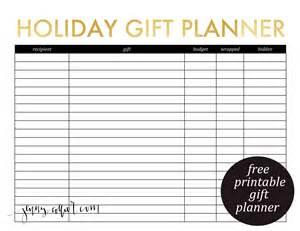 Planner and christmas card list printable christmas gift list template