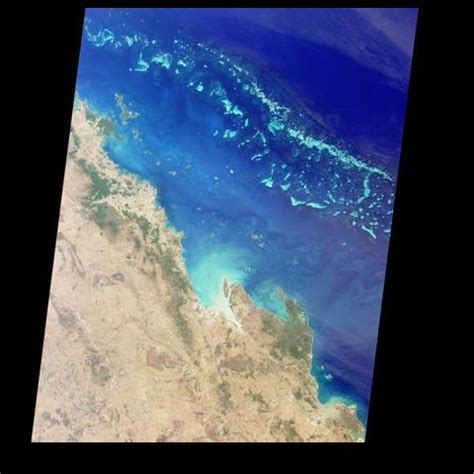 space images australias great barrier reef