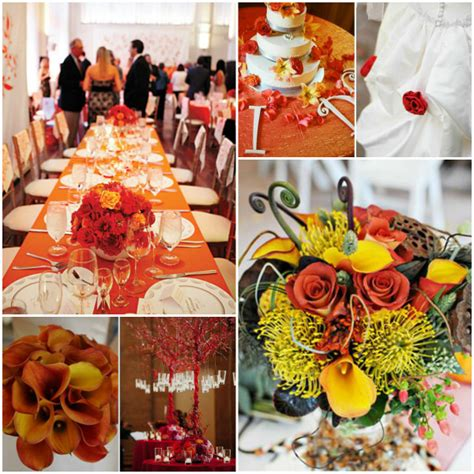 wedding fall decorations and orange fall wedding decoration ideaswedwebtalks