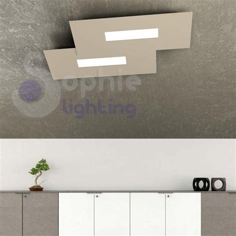 plafoniere a soffitto moderne lada soffitto led luce calda 20w design moderno tortora