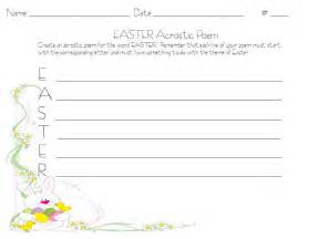 search results for easter acrostic poem template