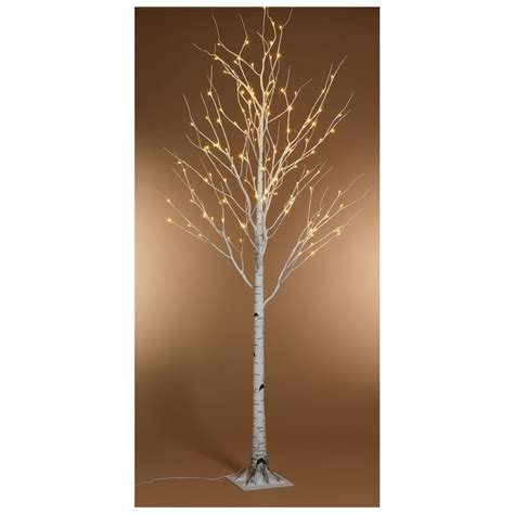 kaemingk pre lit paper birch christmas tree 6ft 1 8m
