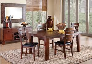Dining Room Sets Rooms To Go Lake Tahoe Walnut 5pc Leg Dining Room Dining Room Sets