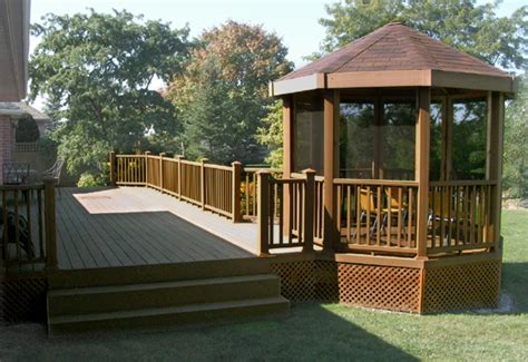 deck gazebo gazebo deck yard stuff deck options