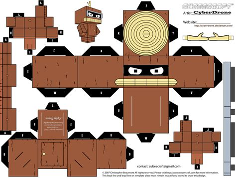 Futurama Papercraft - cubee bender wooden ver by cyberdrone on deviantart