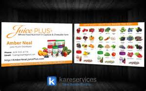 juice plus business cards kare services design 2 kare services
