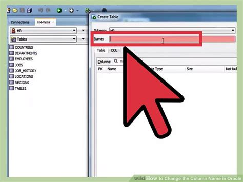Alter Table Change Column Oracle How To Change The Column Name In Oracle 4 Steps With Pictures